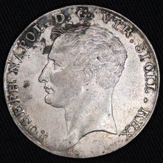 イタリア ナポリ&シチリア Naples&Sicily ジョゼフ・ボナパルト Joseph Bonaparte 120グラナ銀貨 1808年