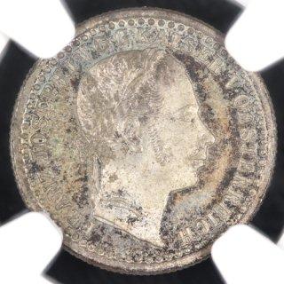 オーストリア Austria フランツ・ヨーゼフ1世 5Kreuzer銀貨 1858年 NGC MS64 E.P.N エリック・ピーター・ニューマンコレクション