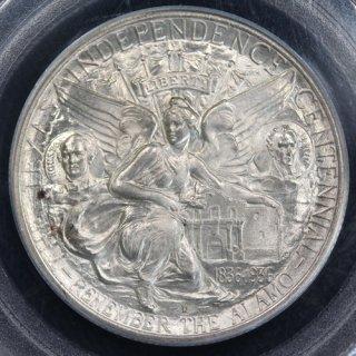 アメリカ United States テキサス州独立100年記念 50セント銀貨 1937年D PCGS MS64