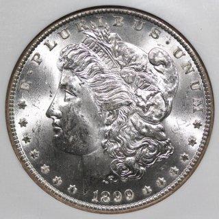アメリカ United States of America モルガンダラー 1ドル銀貨  1899年O NGC MS63