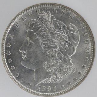 アメリカ United States モルガンダラー銀貨 1886年 NGC MS62