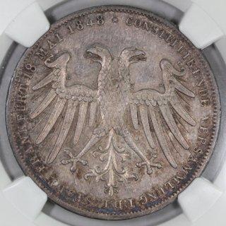 ドイツ Germany フランクフルト ヨハン大公 執政選出記念 2グルデン銀貨 1848年 NGC MS63