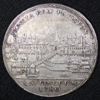 ドイツ Germany レーゲンスブルク Regensburg 都市景観 ヨーゼフ2世 ターラー銀貨 1780年BF