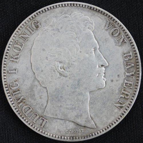 ドイツ Germany ババリア ルートヴィヒ1世 2ターラー 3-1/2グルデン銀貨 1840年