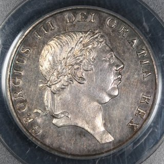 イギリス Great Britain ジョージ3世 バンクトークン 18ペンス銀貨 1812年 PCGS PR58
