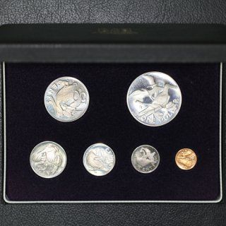 イギリス領 ヴァージン諸島 British Virgin Islands エリザベス2世 プルーフセット 6種 1973年 大型銀貨1枚含