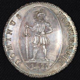 スイス Switzerland ベルン カントンターレル 騎士像 4フランケン ターラー銀貨 1823年