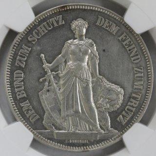 スイス Switzerland 射撃祭 ベルン Bern 5フラン銀貨 1885年 NGC UNC DETAILS