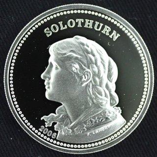 スイス Switzerland 現代射撃祭 ゾロトゥルン Solothurn 50フラン銀貨 プルーフ 2006年