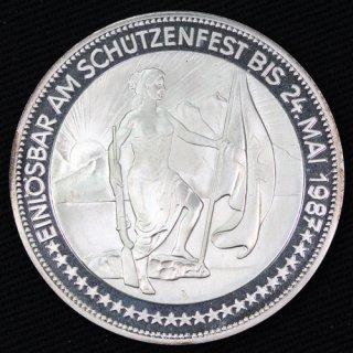 スイス Switzerland 現代射撃祭 グラールス 50フラン銀貨 プルーフ 1987年