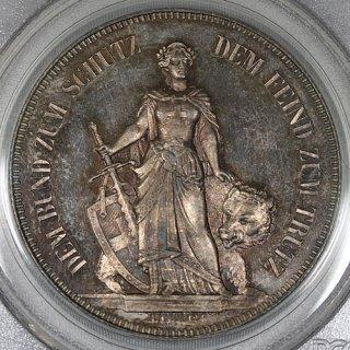 スイス 射撃祭 ベルン Bern 5フラン銀貨 Specimen 1885年 PCGS SP64