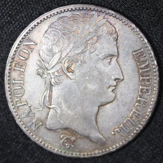 フランス France ナポレオン1世 Napoleon I 月桂冠 5フラン銀貨 1811年A