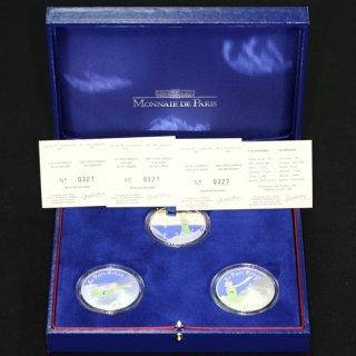 フランス France 星の王子さま フランス版発刊60周年記念 カラー銀貨 3種 2007年