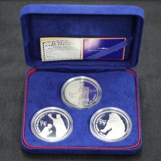 フランス France ルーブル美術館200周年記念 100フラン銀貨 3種セット 1993年