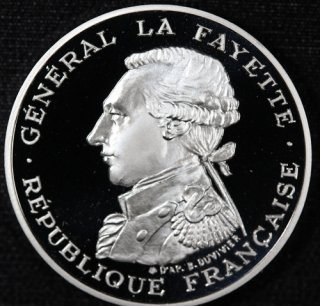 フランス France ラファイエット侯爵 100フラン ピエフォー銀貨 2枚セット 1987年