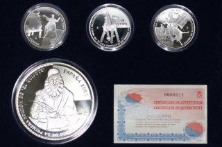 スペイン Spain ドン・キホーテ Don Quijote ユーロ銀貨4枚セット プルーフ 2005年