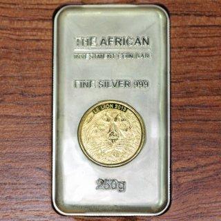 コンゴ Congo アフリカライオン FINE SILVER 999 純銀コインバー インゴット 250g 2013年