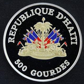 ハイチ Haiti 500グールド カラー銀貨 プルーフ 1999年