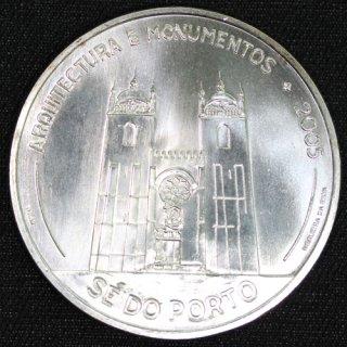 ポルトガル ポルト大聖堂 イベロアメリカシリーズ 建築とモニュメント 10ユーロ銀貨 2005年