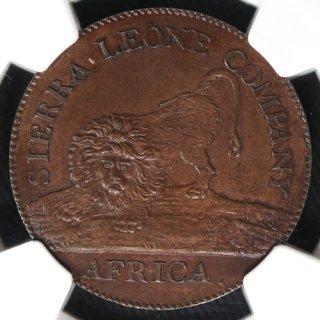 シエラレオネ Sierra Leone 1セント銅貨 1791年 NGC PR63BN