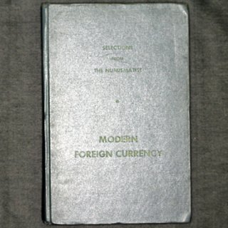 SELECTIONS FROM THE NUMISMATIST MODERN FOREIGN CURRENCY 1960年