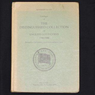 サザビーズ SOTHEBY&CO. Catalogue of THE DISTINGUISHED COLLECTION of ENGLISH GOLD COINS 1700-1900
