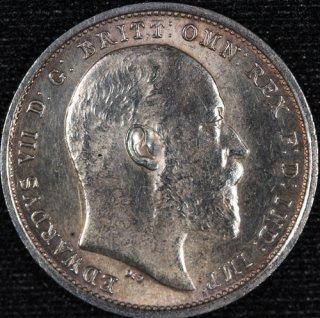 イギリス Great Britain エドワード7世 マウンディセット 銀貨4種 1902年