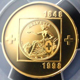 スイス Switzerland スイス連邦成立150周年記念 100フラン金貨 1998年 PCGS PR68 DEEP CAMEO