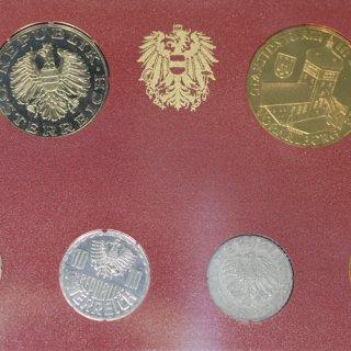 オーストリア Austria プルーフコインセット Proof Coin Set 8枚 1990年
