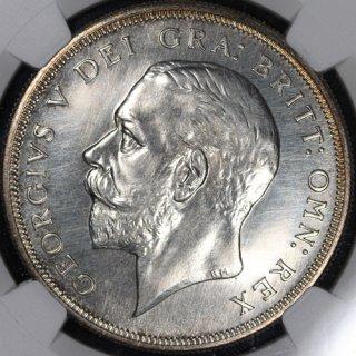 イギリス Great Britain ジョージ5世 George V クラウン銀貨 1927年 NGC PF64