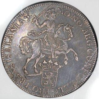 オランダ Netherlands オーファーアイセル Silver Rider デュカトン銀貨 1739年 NGC VF DETAILS