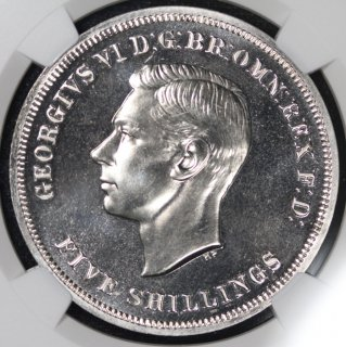 イギリス Great Britain ジョージ6世 George VI 英国祭 クラウン白銅貨 1951年 NGC PL65