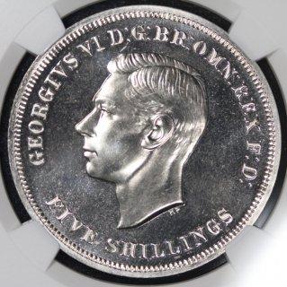 イギリス Great Britain ジョージ6世 英国祭 クラウン白銅貨 1951年 NGC PL65