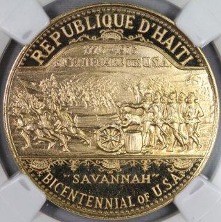 ハイチ Haiti 【USA Bicentennial】1000グールド金貨 1974年 NGC PF64 ULTRA CAMEO