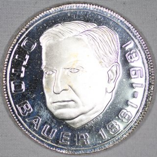 オーストリア Austria 【オットーバウアー生誕100周年】 500シリング銀貨 プルーフ 1981年