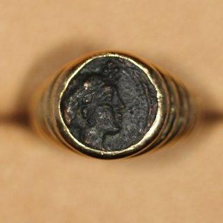 ブルガリ BVLGARI 古代イオニア クラゾメナイ  モネーテ ゴールドリング 4th century B.C.