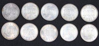 東京オリンピック記念 100円銀貨 昭和39年 1964年 10枚