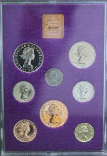 イギリス Great Britain エリザベス2世 プルーフコインセット 8種 ロイヤルミント1970年