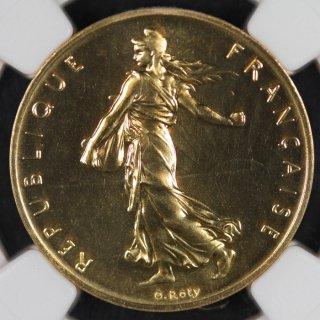 フランス France 第五共和政  種をまく人 ピエフォー フラン金貨 1978年 NGC PF68