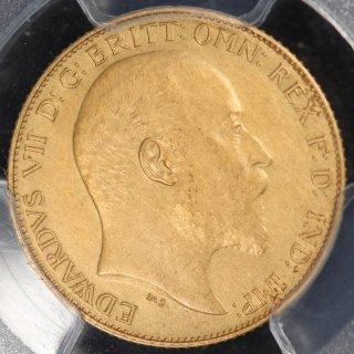イギリス Great Britain エドワード7世 1/2ソブリン金貨 1902年 PCGS PR61 Matte