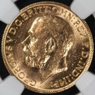 カナダ Canada ジョージ5世  セントジョージ ソブリン金貨 1911年 NGC MS61