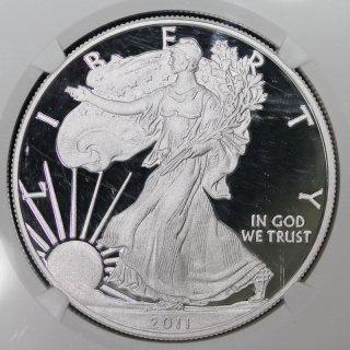 アメリカ United States of America イーグル25周年 1ドル銀貨 2011年W NGC PF70 ULTRA CAMEO