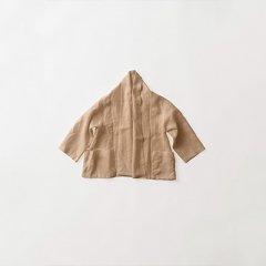 J リネン七分袖ジャケット 伊勢茶染め
