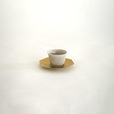 堀仁憲 青磁 鎬 茶杯