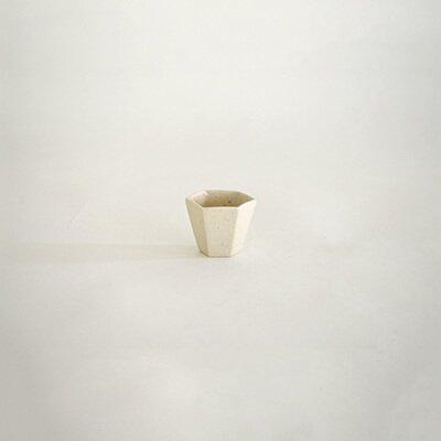 堀仁憲 灰磁 面取 茶杯