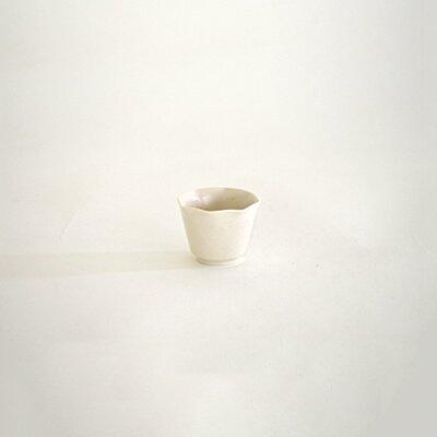 堀仁憲 白磁 輪花 茶杯