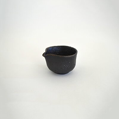 鶴野啓司 黒釉 片口盃