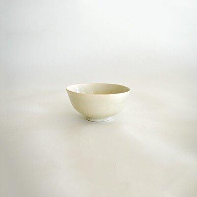 鶴野啓司 白磁 飯碗