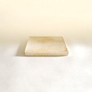 西川聡 白 角板皿