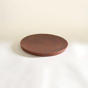 西川聡 赤 丸板皿